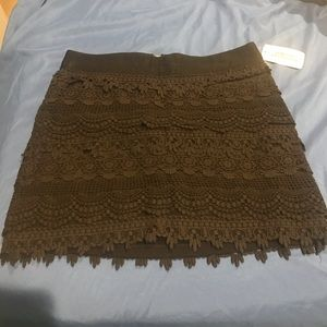 NWT black lace mini skirt FOREVER 21 size SMALL